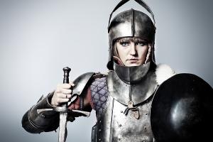 woman on armor