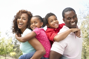 young-black-family-at-park